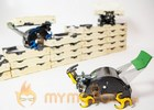 Robot construction crews, inspired by termites
