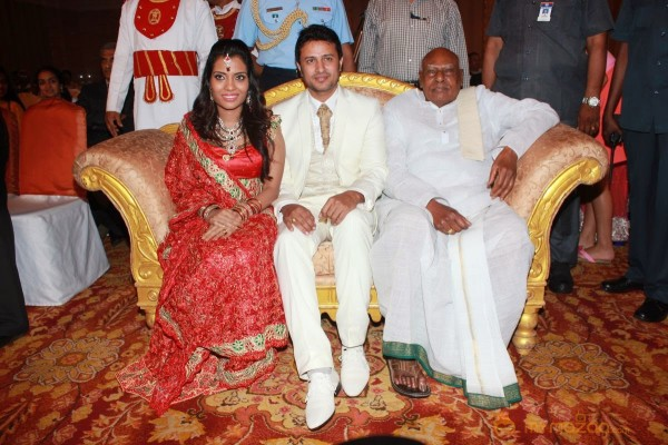 Actor Raja Amritha Marriage Reception Photos