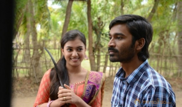 Dhanush Nazriya Nazim in Naiyandi Movie Stills