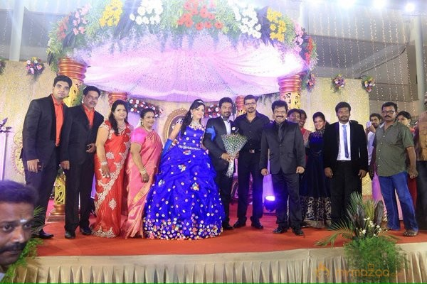 Vijay @ Pandiyarajan Son Prithivi Marriage Reception Photos
