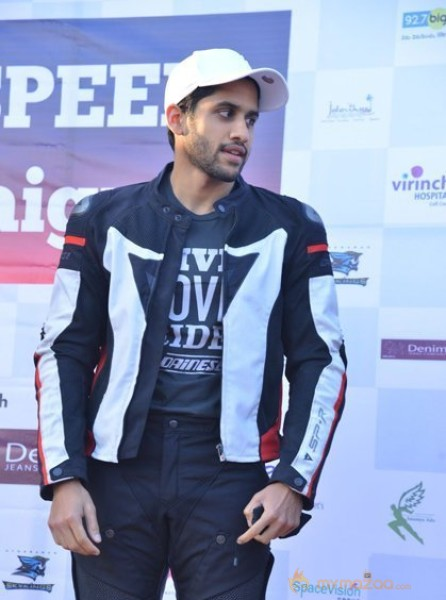 NAGA CHAITANYA AT STOP SPEED CAMPAIGN