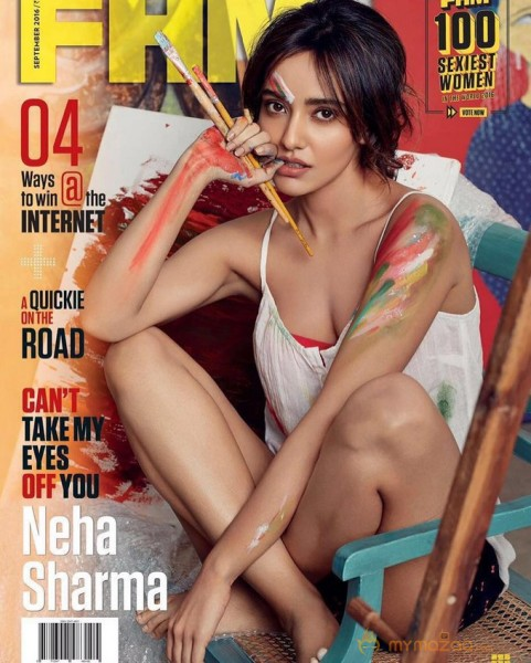 Neha Sharma Hot Photoshoot For FHM Magazine