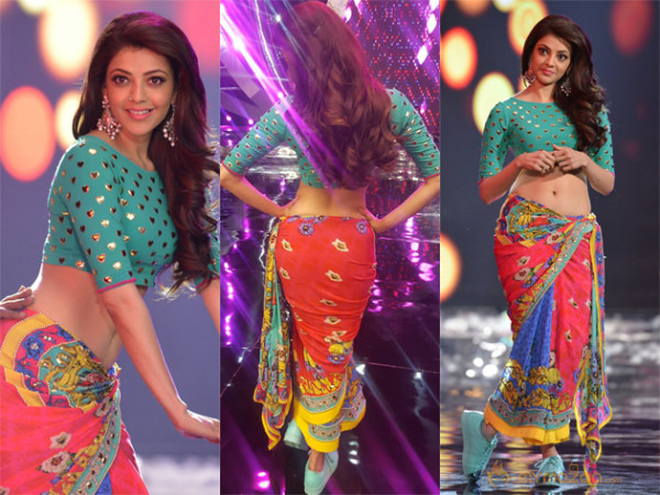 Photo Story: Kajal shows only Midriff for now!