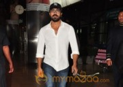 Ram Charan at Shamshabad Airport