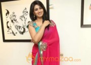 Beautifull Actress Shamili in Pink Saree Photos